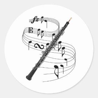 Oboe Classic Round Sticker