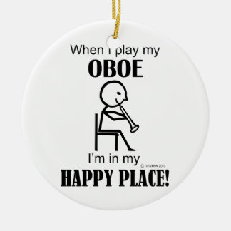 Oboe Happy Place Ceramic Ornament