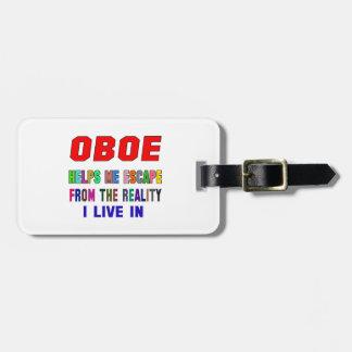 Oboe Helps Me Luggage Tag