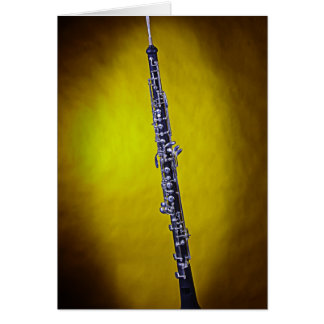 Oboe Image Greeting Card Made to Customize