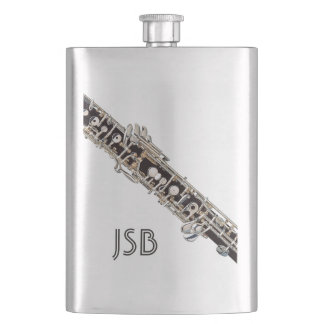 Oboe Keys and Customizable Monogram Hip Flask
