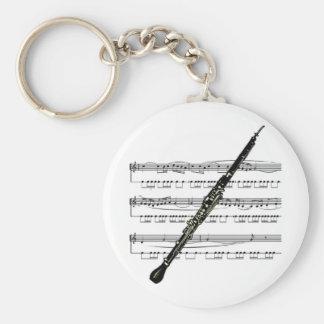 Oboe musical 01 B Keychain