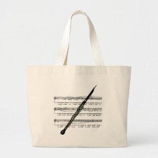 Oboe musical 01 B Large Tote Bag