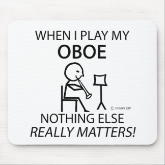 Oboe Nothing Else Matters Mouse Pad