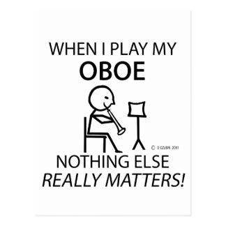 Oboe Nothing Else Matters Postcards