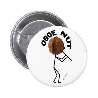 Oboe Nut 2 Inch Round Button