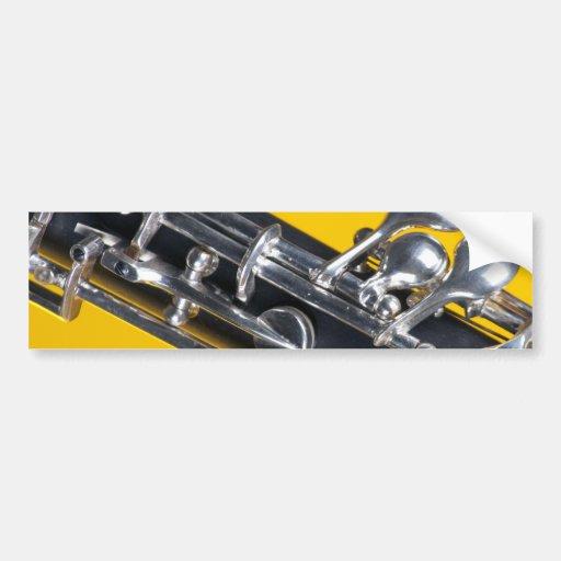 Oboe on Yellow Background Bumper Sticker