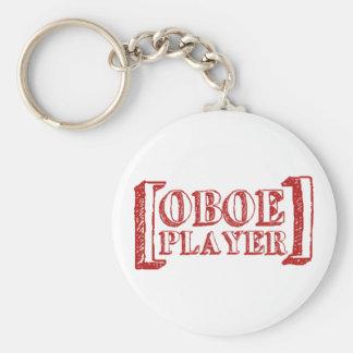 Oboe Player Basic Round Button Keychain