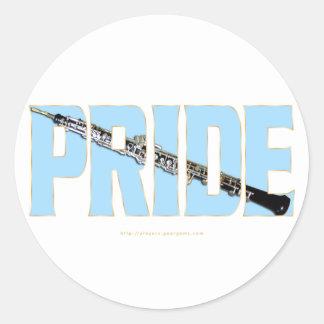 Oboe Pride Classic Round Sticker