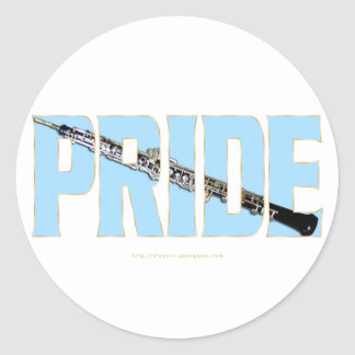 Oboe Pride Round Sticker