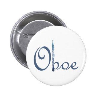 Oboe Script Pinback Button