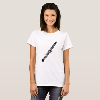 Oboe Silhouette White T-Shirt