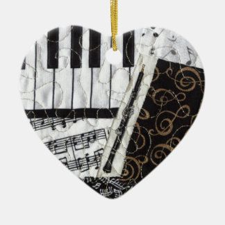 Oboe Woodwind Musical Instrument Ceramic Ornament
