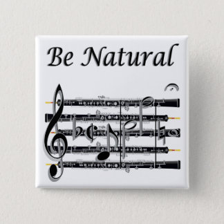 Oboists Know How to B Natural 2 Inch Square Button