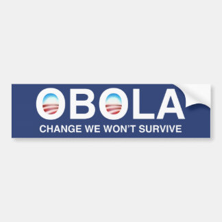 "OBOLA ""Change we won't Survive"" Bumper Sticker"