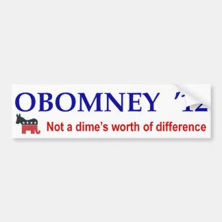 Obomney 2012 Bumpersticker Bumper Sticker