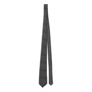 oboro gray checkered steel plate necktie 005
