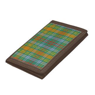 O'Brien Tartan Tri-fold Nylon Wallet