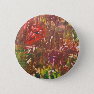 Obscured by Jungle Leaves 2 Inch Round Button