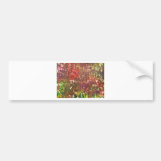 Obscured by Jungle Leaves Bumper Sticker