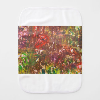 Obscured by Jungle Leaves Burp Cloth