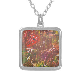 Obscured by Jungle Leaves Silver Plated Necklace