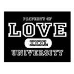Obscurité d'université d'amour cartes postales