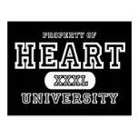 Obscurité d'université de coeur carte postale