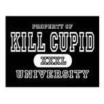 Obscurité d'université de cupidon de mise à mort carte postale