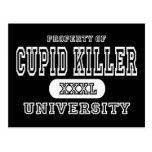 Obscurité d'université de tueur de cupidon cartes postales