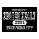 Obscurité d'université du coeur brisé carte