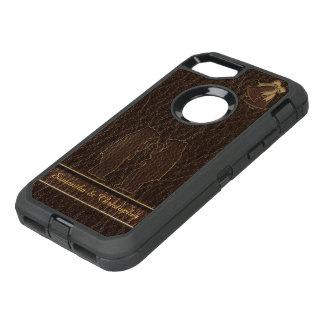 Obscurité simili cuir de mariage coque OtterBox defender iPhone 8/7