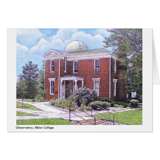 Observatory Albion College, full colour notecard