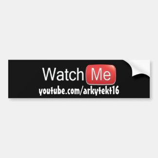 Observez-moi sur YouTube (de base) Autocollant De Voiture