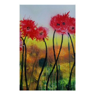 Observing Red Flowers Stationery Paper