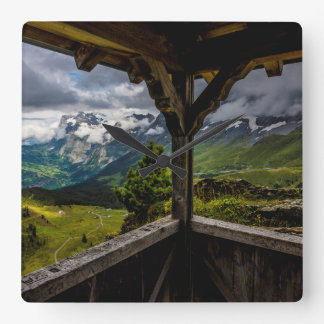 Observing The Grindelwald Valley And Swiss Alps Clock