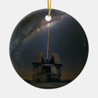 Observing the Milky Way using the Laser Guide Star Ceramic Ornament