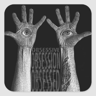 Obsess Square Sticker