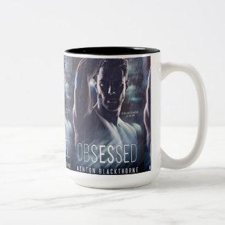 Obsessed - TOTALLY OBSESSED 15 oz. Mug! Two-Tone Coffee Mug