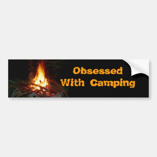 Obsessed With Camping Bumper Sticker