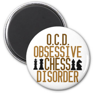 Obsessed with Chess 2 Inch Round Magnet