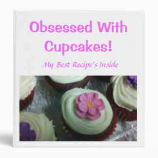 Obsessed With Cupcakes Binder /Recipe  Book