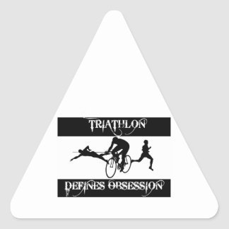 obsessed with Triathlon Triangle Sticker
