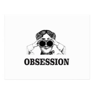 obsession woman postcard