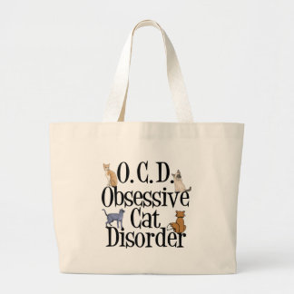 Obsessive Cat Disorder Large Tote Bag