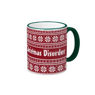 Obsessive Christmas Disorder ringer mug