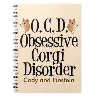 Obsessive Corgi Disorder Custom Notebook