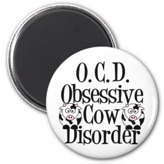 Obsessive Cow Disorder 2 Inch Round Magnet