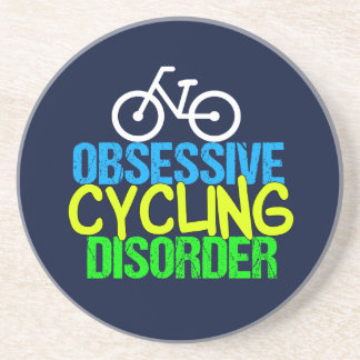 Obsessive Cycling Disorder Cyclist Drink Coaster