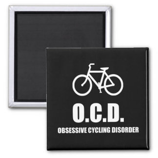 Obsessive Cycling Disorder Square Magnet
